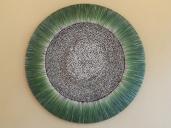Zentrum mit Holzträmeli aus versch. Hölzern gefüllt, Durchmesser 150 cm